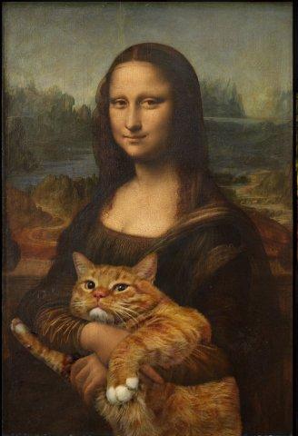 Fat Cat with the Mona Lisa: image via fatcat.ru
