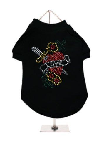 Love Heart GlamourGlitz Dog T-Shirt