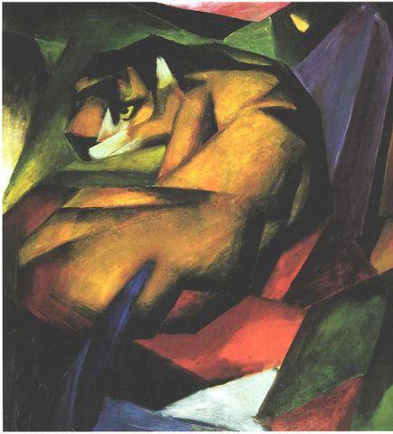 The Tiger by Franz Marc: The Tiger by Franz Marc