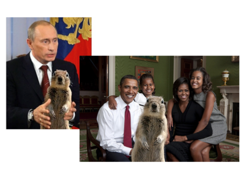 Putin & Obama Family Squirrelized