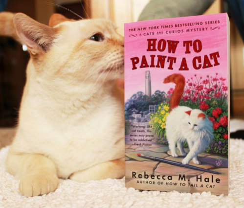Rebecca M. Hale's A Cats and Curios Mystery Series: Cats and Curios image via Rebecca M. Hale Facebook