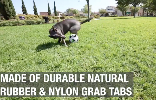 Hyoer Pet Grab Tabs Dog Soccer Ball