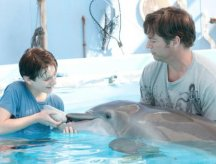 Actors Nathan Gamble & Harry Connick,Jr and Winter