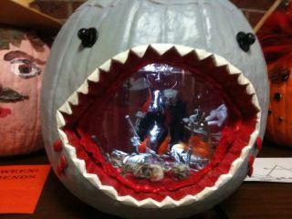 Shark Pumpkin Halloween Fish Bowl: Image by MattNano