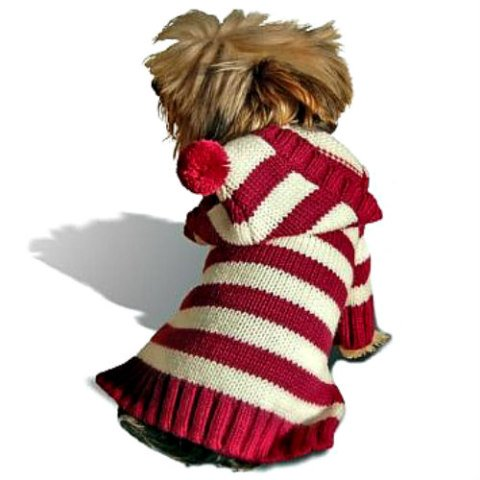 Hoodie Dog Sweater by Stinky G on Amazon: Knit dog sweaters will stretch and move with your pet