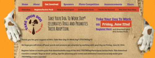 """Take Your Dog To Work"" Registration"