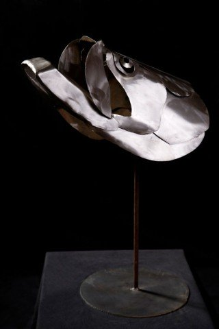 Tarpon by Roth: Layered metal animal sculpture by Ben Roth.