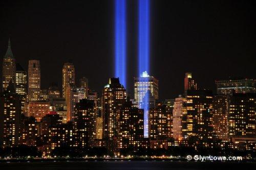 9-11 Tribute Lights: image via wikipedia.com