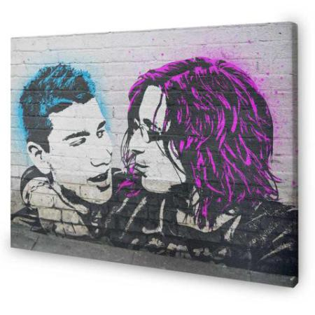 Banksy Style canvas print from photo-canvas.com