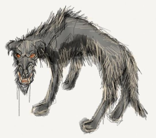 Black Dog of Myth and Legend (Artwork by Vasilios Markousis/Creative Commons via Wikimedia))