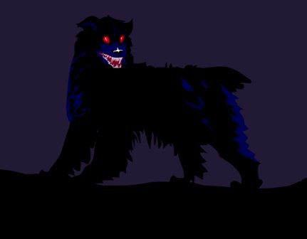 Black Dog of Myth and Legend (Public Domain Image)