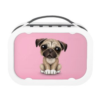 Pug Puppy Pink Lunchbox
