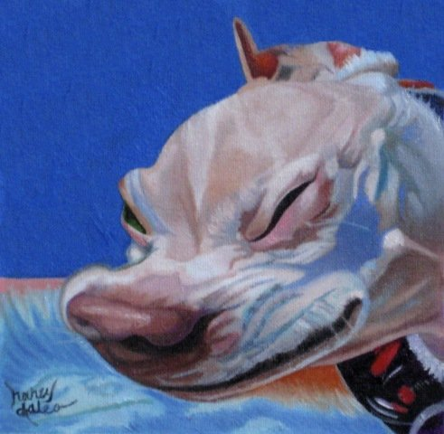 Achoo! by Daleo: A sneezing chihuahua caught mid explosion! More dog art of Nancy Daleo.