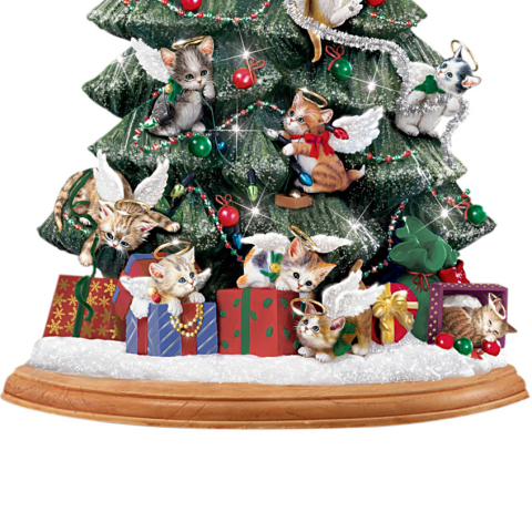 Purr-fect Holiday Christmas Tree