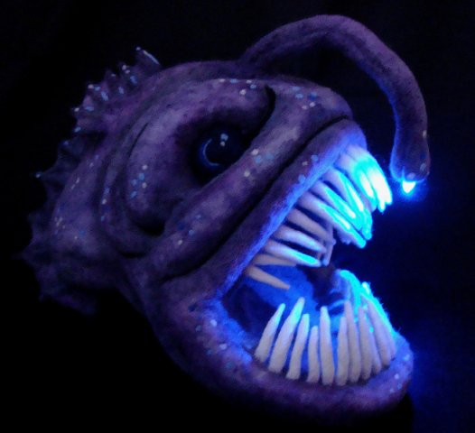 Angler Fish by Mahuna: Some deep sea animal art of Mahuna.