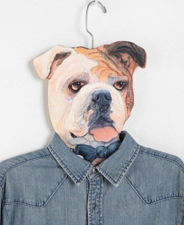 Bulldog animal clothes hanger is tail-wagging fun!