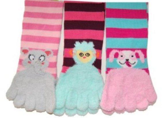 Gravity Funky Elephant, Llama, and Dog Toe Socks
