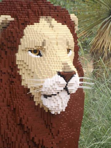 Leo, the Lego Lion (Photo by Annie Bear)
