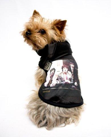 Manfred of Sweden black vintage Beatles t-shirt for dogs: © Manfred of Sweden