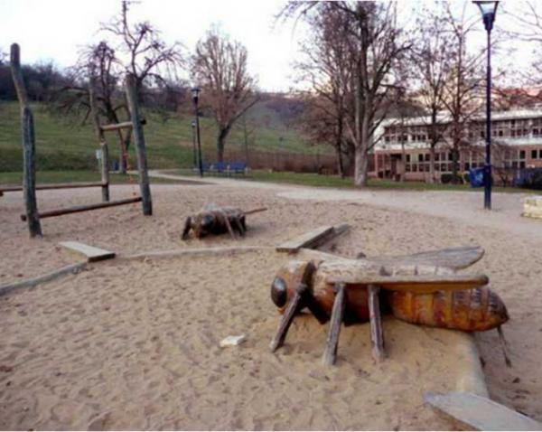 Honey Of A Playground Features Giant Wooden Wasps