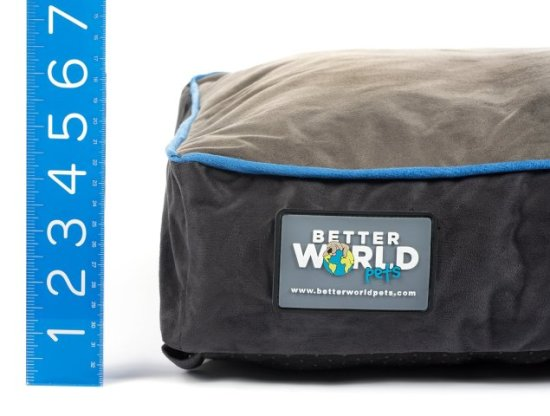 Better World Dog Bed is nice and cushy for a small to medium dog