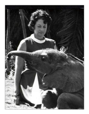 Daphne Sheldrick and Friend (Image via The David Sheldrick Wildlife Trust)