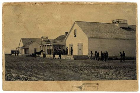 U.S. Camel Corps Barracks Near San Pedro, California (Public Domain Image)
