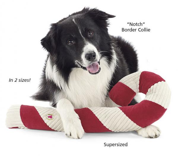 HuggleHounds Candy Cane Tuffet Toy