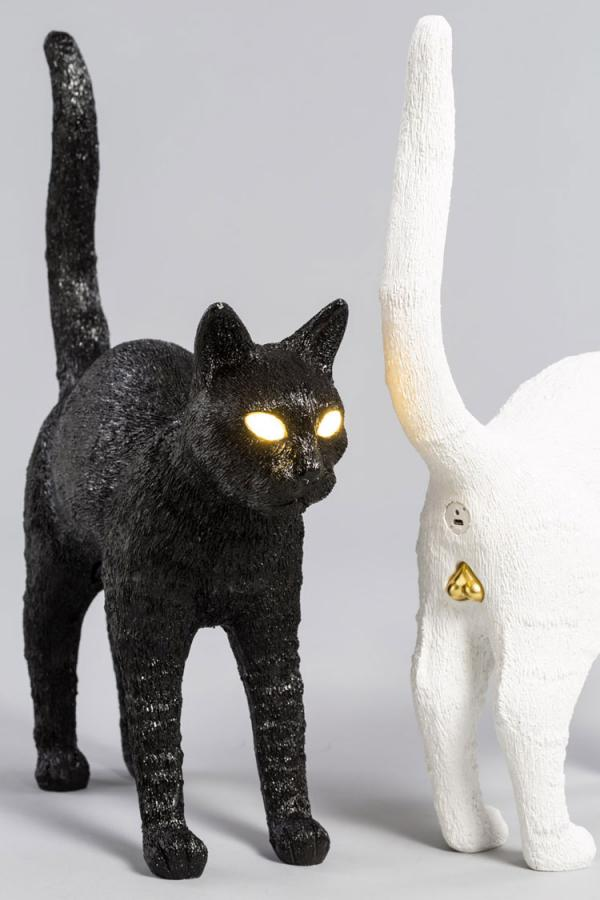 Creepy Cat Lamp Gets Turned On When You Press Its Testes