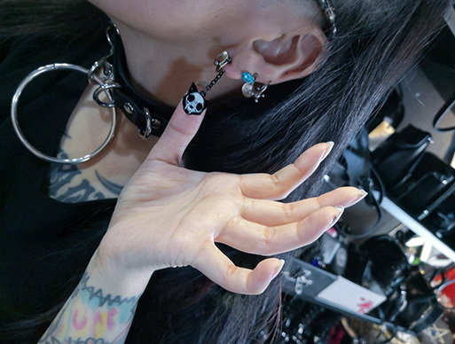 Cat Skull Earrings from Mai Aimheart