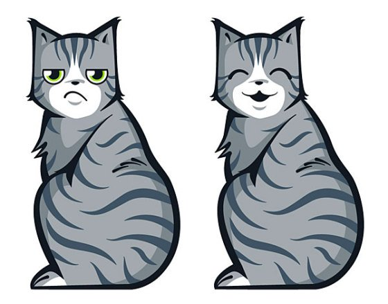 Moving Tail Kitty Car Decal