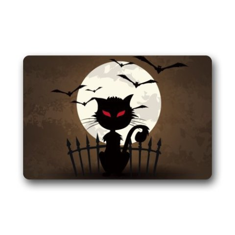 Black Cat Doormat #1