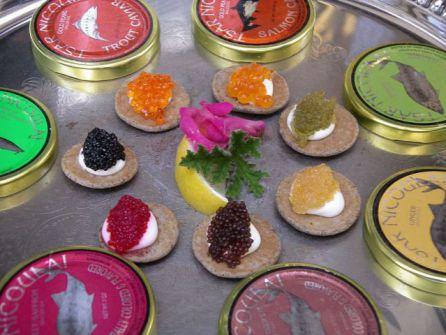 Six Kinds of Caviar (Photo by T Chu/Creative Commons via Wikimedia)