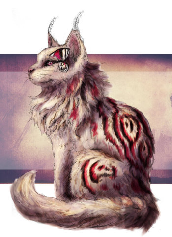 Chatillon Adopt 1 by Kodriak: I'm going to call this fantasy cat art.