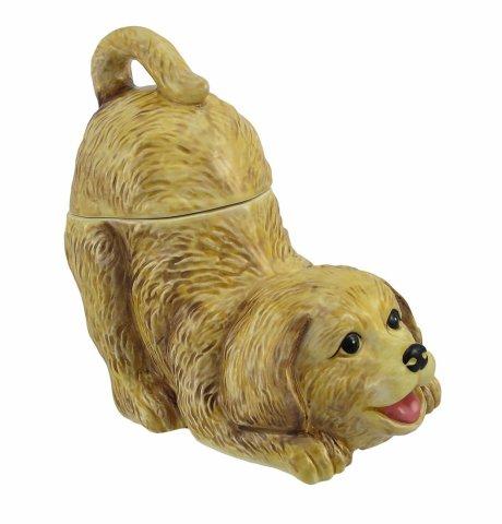 Golden Retriever Puppy Cookie Jar