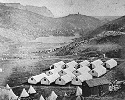 British Army Camp Near Sevastopol During the Crimean War (Public Domain Image)