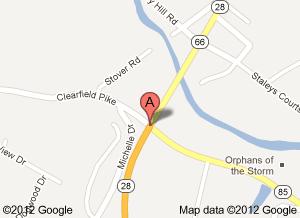 Popular Pennsylvania intersection for bulls: image via Googe maps