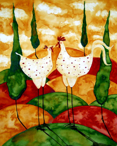 Chicken Love: Source:debbiehubs-artblooms.net