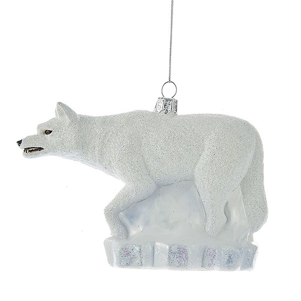 Direwolf Christmas Ornament -- Ghost
