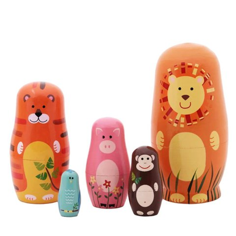 Cartoon Animal Nesting Dolls