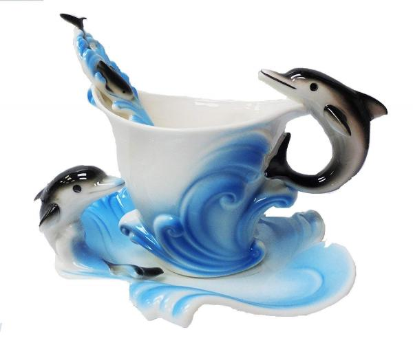 China Dolphins Cup and Saucer
