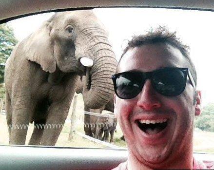 Scott Brierley Taking Selfies (You Tube Image)