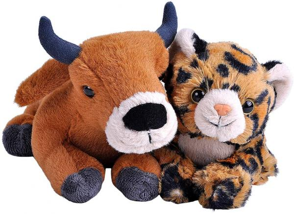 Unlikely Animal Friends Plush -- Cow and Leopard