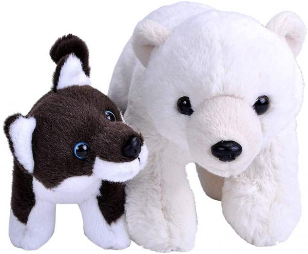 Unlikely Animal Friends Plush -- Polar Bear and Dog