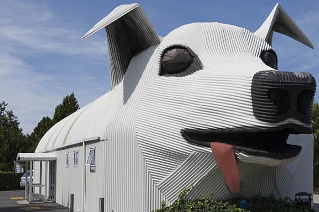 Dog Shaped Building New Zealand