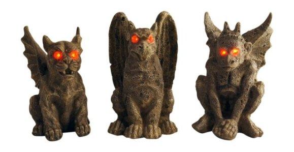 Small Creepy Halloween Gargoyles