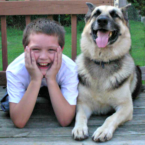 Canine Body Language: Head tipped back with tongue lolling indicates a feeling of ease in dogs