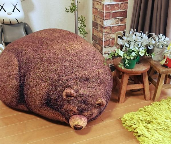 Realistic Giant Bear Cushions