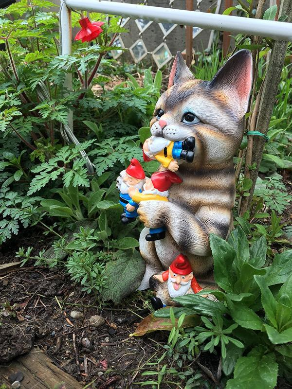 Cat Garden Gnome Statue