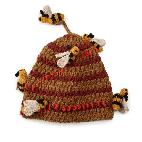 Hand-Crocheted Beehive Hat